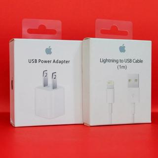 Cargador Apple 5w + Cable Original iPhone 5s 6s 7 8 X Xr
