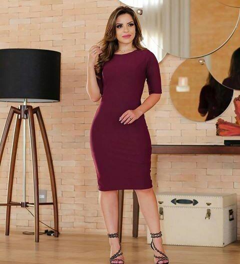 Kit 10 Vestidos Moda Evangélica Tubinho A Sua Escolha