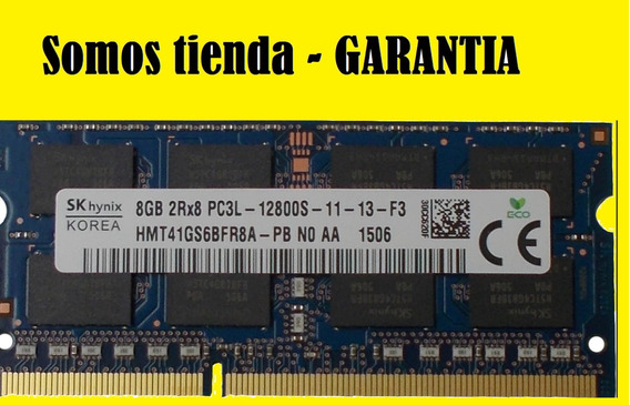 Memoria Laptop 8gb Ddr3l 1600mhz So-dimm Pc3l-12800