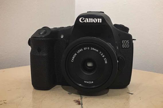 Câmera Canon Eos 60d + Lente Canon Ef-s 24mm 2.8