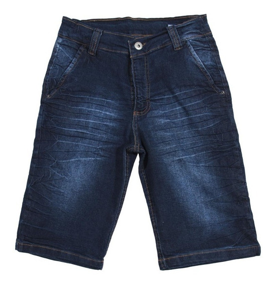 Oferta Bermuda Jeans Masculina Infantil Meninos Tam 6/8