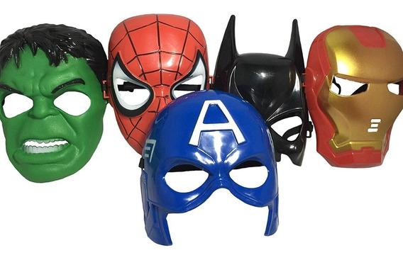 Mascara Super Heroes Vengadores Spiderman Hulk Capitan Iron