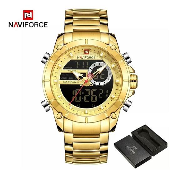 Relógio Original Naviforce 9163 À Prova D