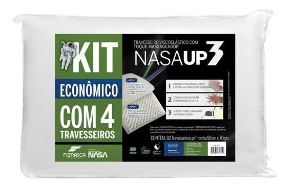 Kit 4 Travesseiros Fibrasca Nasa Up 3 50x70cm