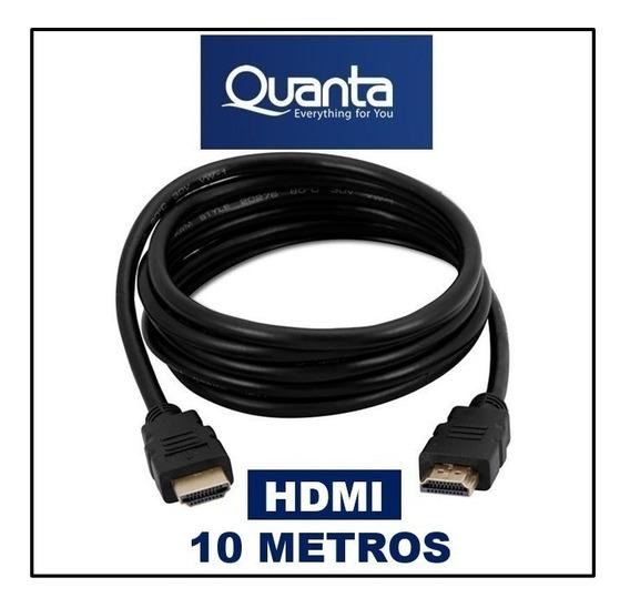 Cabo Hdmi 10 Metros Quanta Qthdmi100 100% Original Quanta Nf