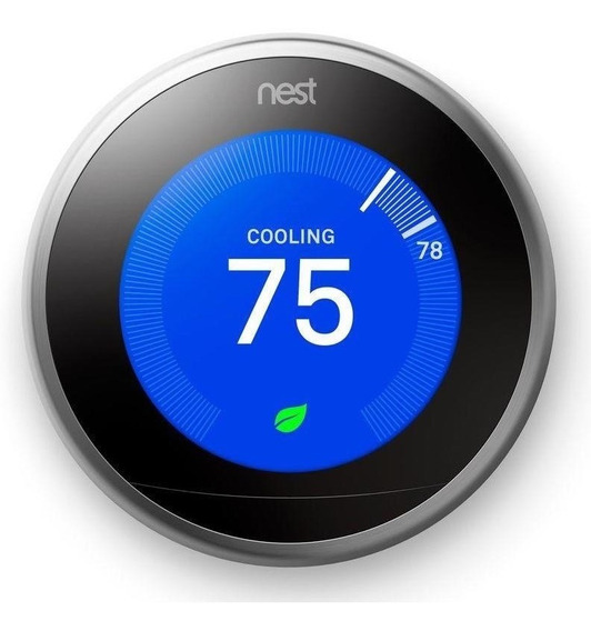 Termostato Nest Learning 3rd Generación Stainless Plateado