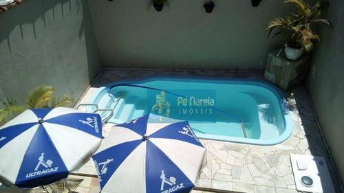 Casa Com 3 Dormitórios À Venda, 100 M² Por R$ 600.000,00 - Vila Guilhermina - Praia Grande/sp - Ca0154
