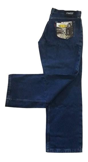 Pantalón De Jeans Clásico Indigo Far West Indigo 14 Onzas