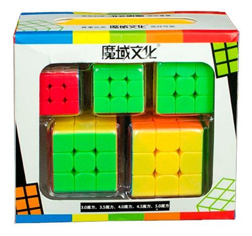 Pack Combo Cubo Rubik 3x3 Moyu Mini Cubos Mágicos