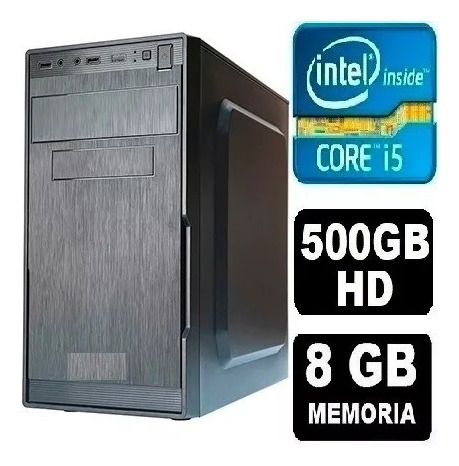 Pc Cpu Computador Intel Core I5 + 500 Hd + 8gb + Monitor 19