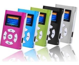 Reproductor Música Mp3 Lcd Ranura Microsd 32gb + Audifonos