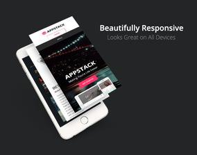 Template Appstack Responsivo Tema
