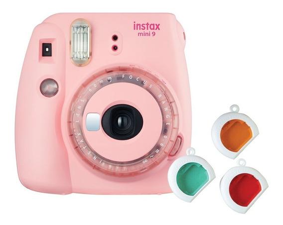 Câmera Instax Mini 9 Rosa Chiclé C/ 3 Filmes Coloridos
