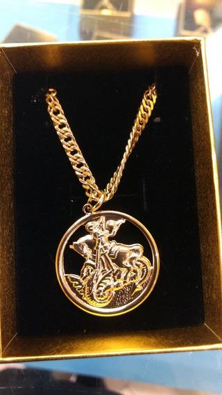 Cordao Rommanel + Medalha São Jorge Masculino 541256 530490