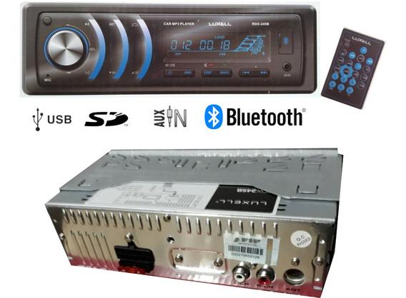 Stereo Bluetooth Usb Luxell P/4 Parlantes Potencia 4 X 52w