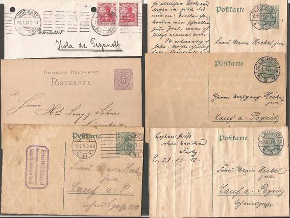 Alemania 11 Postkarte Y Sobres Con Detalles - 463