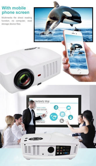 Projetor Smart 4000 Lumens, Wi-fi, Android, Data Show, Tvbox