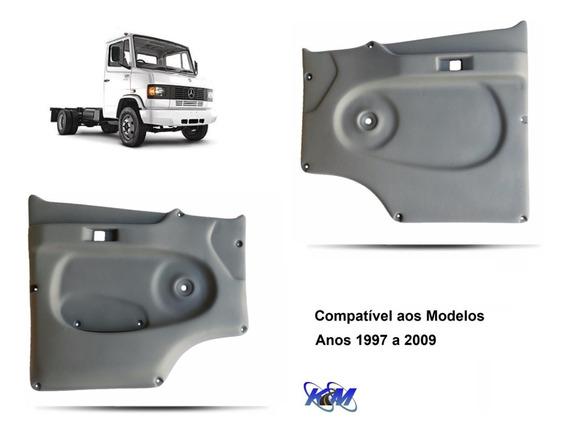 Par Forro De Porta Caminhão Mercedes Benz Mb 710 Plus Cinza