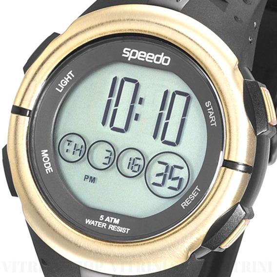Relógio Masculino Speedo Original Preto Dourado 81144goevnp1