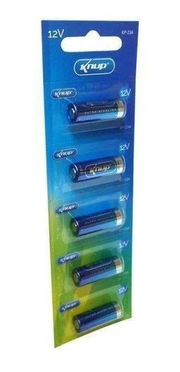 Bateria 12v P/ Alarme Knup High Voltage 23a Cartela Com 5