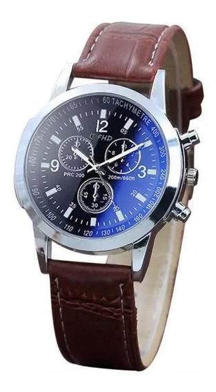 Reloj Negro Para Hombre Moderno Nuevo Hermoso