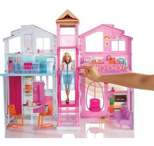 Playset Real Super Casa 3 Andares Da Barbie - Mattel