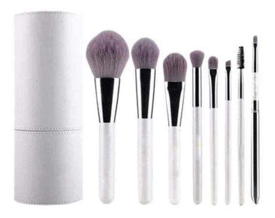 Set 8 Brochas Maquillaje Estuche Pelo Suave Pinceles Gugus