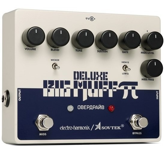 Pedal Ehx Sovtek Deluxe Big Muff Pi Distortion Sustainer Nfe