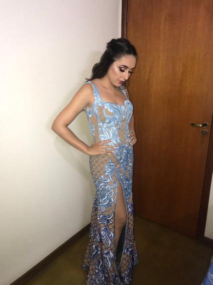 Vestido Longo De Festa - Bordado - Formatura/madrinha