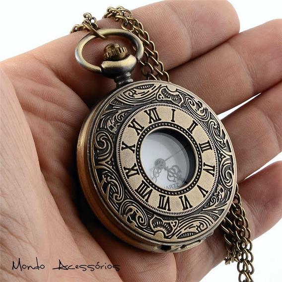 Relógio De Bolso Steampunk Vitoriano Vintage C/ Frete Barato
