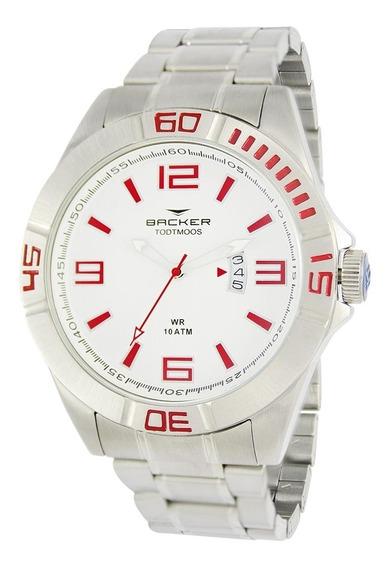 Relógio Masculino Backer Analógico 6203253m - Prata