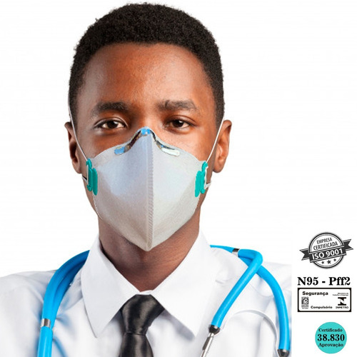 30 Máscaras Pff2 N95 Hospitalar 4 Camadas Elástico Regulável