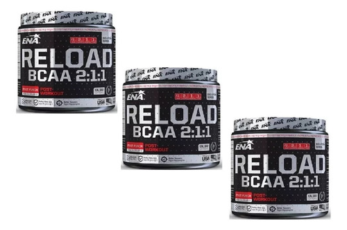 Promo Reload Bcaa 2:1:1 Ena Combo X3 Unidades