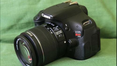 Canon T3i  Corpo Com Lente 18-55mm. Confira Mais Itens