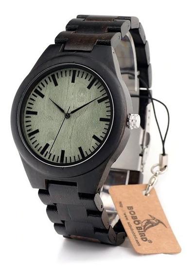 Relógio Madeira Preto Unissex, Lançamento
