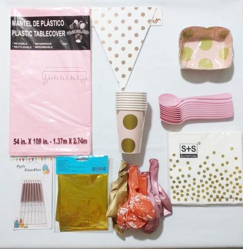 Kit Para Decoración Cumpleaños Rosado