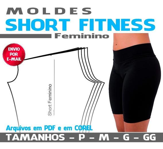 Molde Short Fitness Feminino Em Pdf E Cdr(corel)