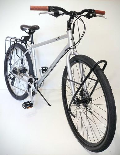 Bicicleta Khs Híbrida Cicloturismo Urbana 24v Disco Cromoly