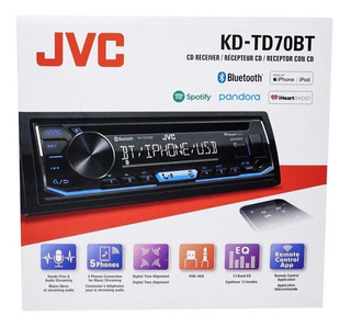 Autoestereo Jvc Kd-td70bt Sportify Bluetooh ( Ref. Kd-r79bt)