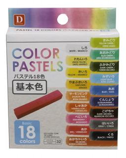 Giz Pastel Seco Com 18 Cores Tecido Cabelo Daiso Japan