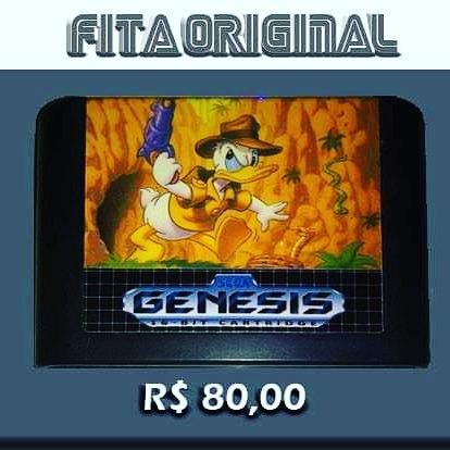 Quackshot Original Mega Drive Sega Genesis Não Repro