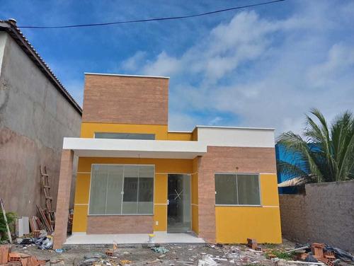 Imagem 1 de 14 de Casa Em Arembepe (abrantes), Camaçari/ba De 92m² 3 Quartos À Venda Por R$ 395.000,00 - Ca1028181