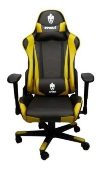 Cadeira Gamer Evolut Eg-900 Ergonômica Preto/amarelo