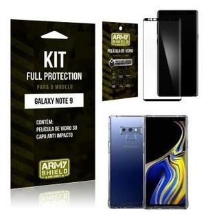 Elícula De Vidro 3d Samsung Note 9 + Capinha Anti Impacto -