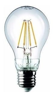 Lámpara Cálida Filamento Led Dgh Bulbo E27 6.5w Pack X 25