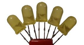 Kit Led 5 Mm Amarelo Difuso Com 25 Pçs