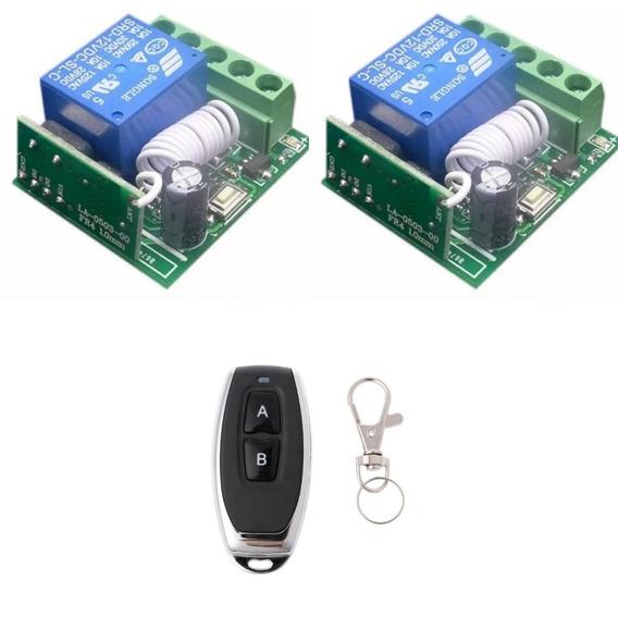 Kit 2x Relé Rf 433mhz 1ch + 1x Controle Remoto