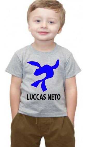 Camiseta Camisa Infantil Luccas Neto Super Foca Blusa Nome 3