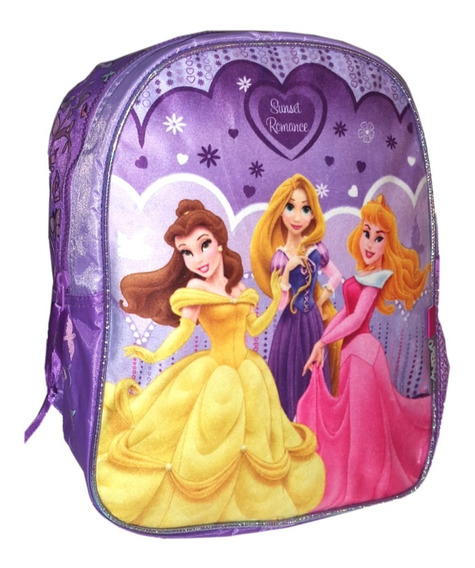 Mochila Espalda Jardin 12p Disney Princesas Plush Mundomania
