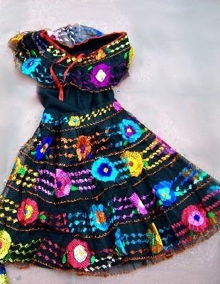 Vestido Tipico Chiapas Bailes Escolares En Mercado Libre